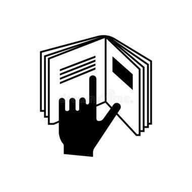 Symbol ręki naksiążce